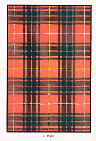 "Johnston's Scottish Tartans - ""BRUCE"" - Chromolithograph - c1899"