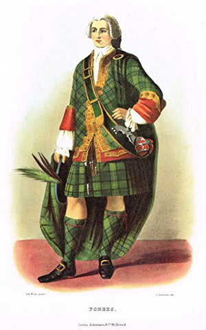 "Clans & Tartans of Scotland by McIan - ""FORBES"" - Lithograph -1988"