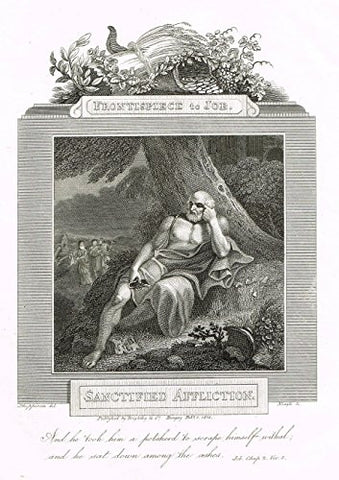"Blomfield's Impartial Expsitor & Bible - ""FRONTISPIECE - SANCTIFIED AFFLICTION"" - Engraving - 1815"