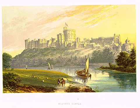 "Morris's Country Seats - ""Windsor Castle"" - Chromolithograph - 1866"