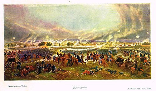 "Emerson's History - ""GETTYSBURG"" - Lithograph - 1901"