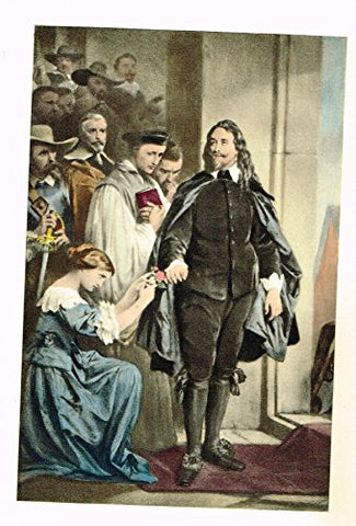 "Colored Lithograph - ""THE LAST MOMENTS OF CHARLES I"" by WAPPERS - c1895"