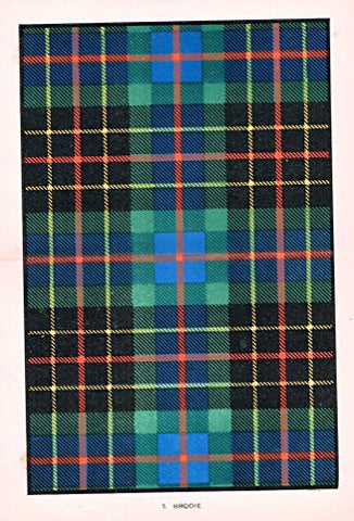 "Johnston's Scottish Tartans - ""BRODIE"" - Chromolithograph - c1899"