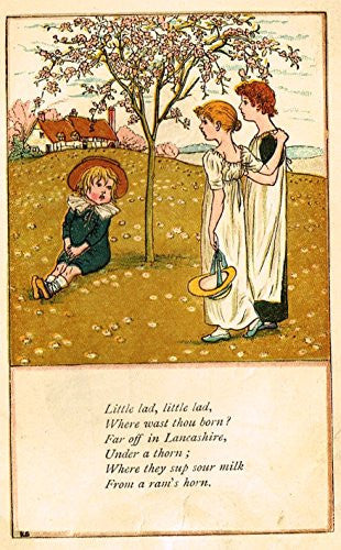 Greenaway's Mother Goose - LITTLE LAD, LITTLE LAD - Chromolithograph - 1898