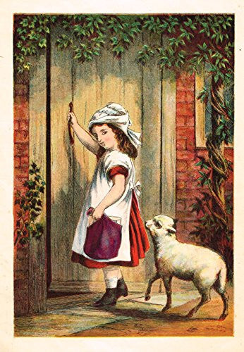 McLoughlin's Playtime Stories - MARY HAD A LITTLE LAMB - Chromolithograph - 1890