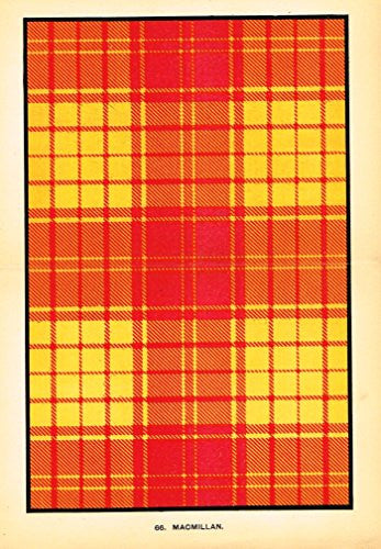 "Johnston's Scottish Tartans - ""MACMILLAN"" - Chromolithograph - c1899"