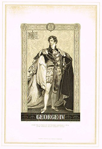 "Archer's Royal Portrait Pictures - ""GEORGE IV"" - Tinted Engraving - 1880"