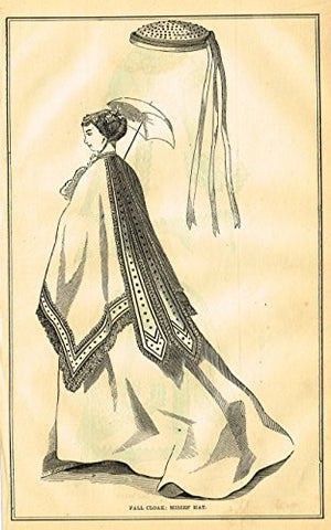 Harper's Magazine's - FALL CLOAK - Lithograph - c1860