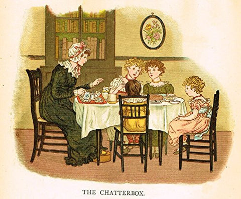 Kate Greenaway's Little Ann - THE CHATTERBOX - Chromolithograph - 1883
