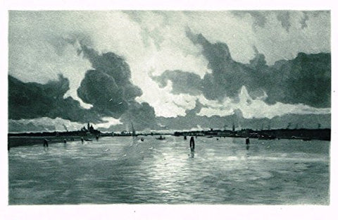 Salons of 1901's BETWEEN VENICE AND THE LIDO (AFTER A STORM) by M.J.IWILL - Photograveure - 1901