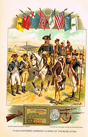 History of Our Country - FLAGS, UNIFORMS, ETC. - Chromolithograph - 1899