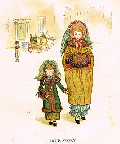 Kate Greenaway's Little Ann - A TRUE STORY - Chromolithograph - 1883