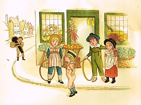 Kate Greenaway's Little Ann - GEORGE & THE CHIMNEY SWEEP - Chromolithograph - 1883