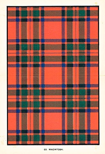 "Johnston's Scottish Tartans - ""MACINTOSH"" - Chromolithograph - c1899"
