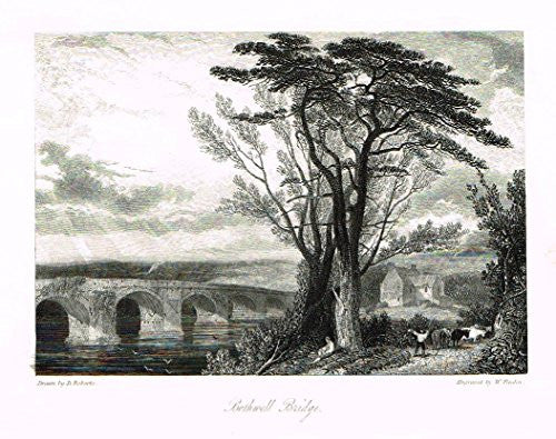 "Waverley's Keepsake - ""BOTHWELL BRIDGE"" - Steel Engraving - 1853"