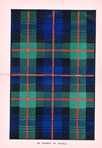 "Johnston's Scottish Tartans - ""MURRAY OF ATHOLE"" - Chromolithograph - c1899"
