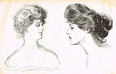 "The Gibson Book - ""TWO GIBSON BEAUTIES"" - Lithograph - 1907"