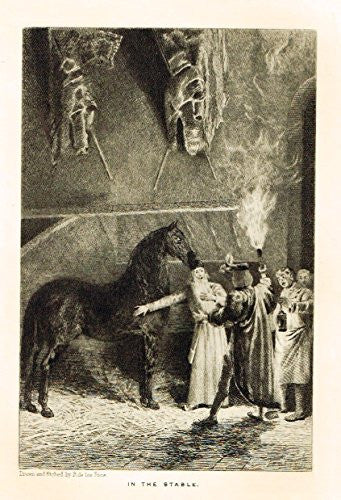 "Walter Scott's - 'Anne of Geierstein' - ""THE SECRET TRIBUNAL"" - Etching - 1894"