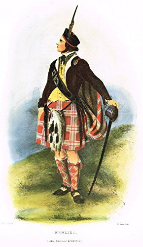 "Clans & Tartans of Scotland by McIan - ""MENZIES"" - Lithograph -1988"