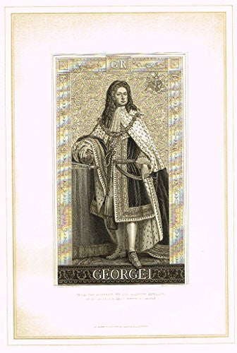 "Archer's Royal Portrait Pictures - ""GEORGE l"" - Tinted Engraving - 1880"