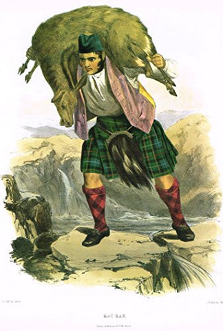 "Clans & Tartans of Scotland by McIan - ""MACRAE"" - Lithograph -1988"