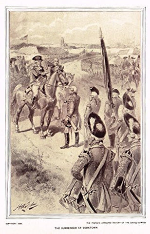 History of Our Country - THE SURRENDER AT YORKTOWN - 1841 TO 1869 - Lithograph - 1899