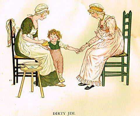 Kate Greenaway's Little Ann - DIRTY JIM - Chromolithograph - 1883
