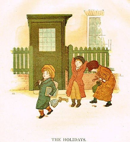 Kate Greenaway's Little Ann - THE HOLIDAYS - Chromolithograph - 1883