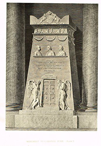 "Cicognara's Works of Canova - ""MONUMENT TO CARDINAL YORK"" - Heliotype - 1876"