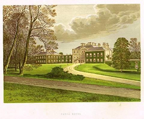 "Country Seats by F.O. Morris - ""HADDO HOUSE"" - Chromolithograph - 1866"