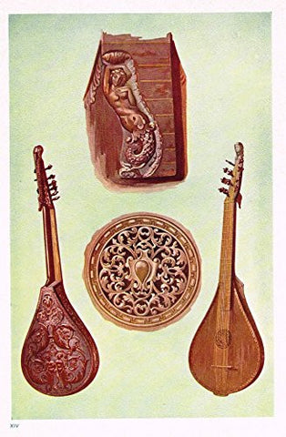 "Hipkins Musical Instruments - ""Cetera"" - Stipple Chromolithograph - 1923"