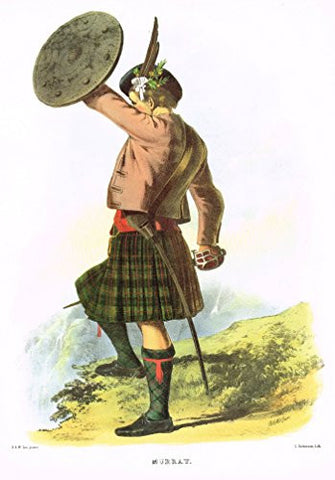 "Clans & Tartans of Scotland by McIan - ""MURRAY"" - Lithograph -1988"