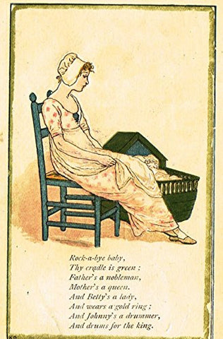 Greenaway's Mother Goose - ROCK-A-BYE-BABY - Chromolithograph - 1898