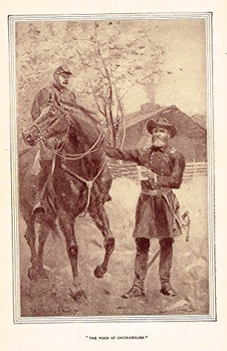 "Youth's History - ""THE ROCK OF CHICKAMAUGA"" - Lithograph - 1898"