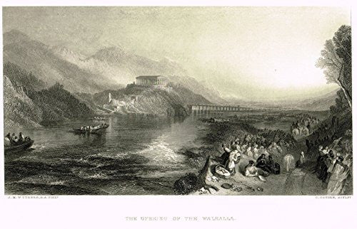 J.M.W. Turner's - THE OPENING OF THE WALHALLA - Steel Engraving - 1880