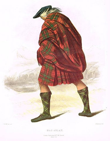 "Clans & Tartans of Scotland by McIan - ""MACAULAY"" - Lithograph -1988"
