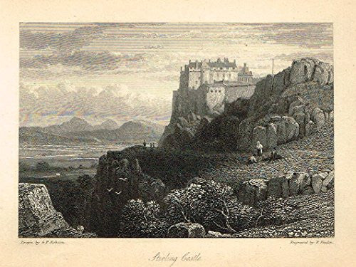 "Waverley's Keepsake - ""STIRLING CASTLE"" - Steel Engraving - 1853"