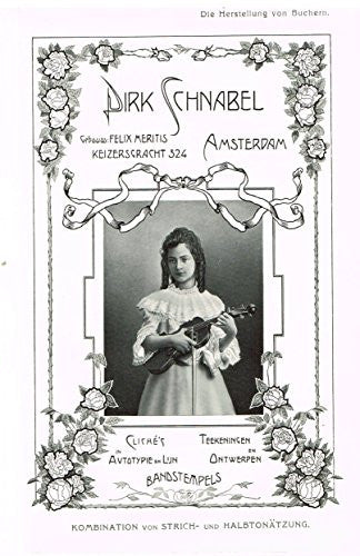 Art Nouveau Typography - GIRL WITH VIOLIN - Photogravure - 1905