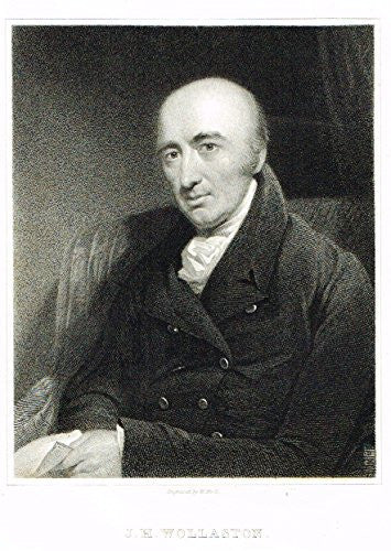 "Knight's Gallery of Portraits - ""J.H. Wollaston"" - Steel Engraving"" - 1833"