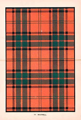 "Johnston's Scottish Tartans - ""MACLEAN OF DUART"" - Chromolithograph - c1899"