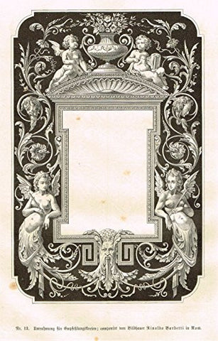 "Baumer's 'Gewerbehalle'- ""FIGURED EBONY MIRROR"" - c1870"