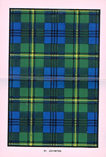 "Johnston's Scottish Tartans - ""JOHNSTON"" - Chromolithograph - c1899"