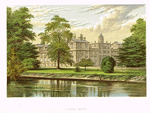"Morris's Country Seats - ""Wilton House"" - Chromolithograph - 1866"
