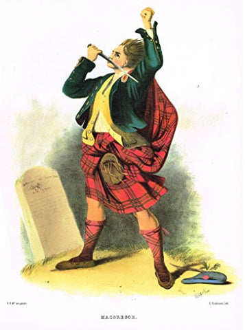 "Clans & Tartans of Scotland by McIan - ""MACGREGOR"" - Lithograph -1988"