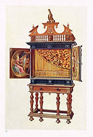 "Hipkins Musical Instruments - ""Cabinet Organ"" - Chromolithograph - 1923"
