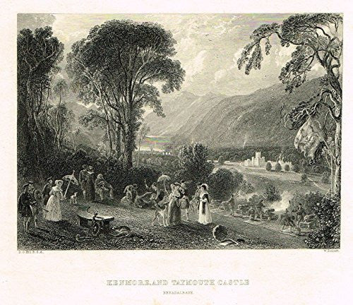 "Scotish Robert Burns Topographicals - ""KENMORE AND TAYMOUTH CASTLE"" - Steel Engraving - 1866"