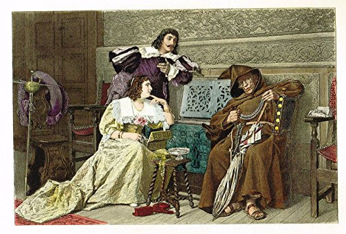 Colored Lithograph - THE GIRLS OF THE DUKE OF BUCKINGHAM by PEIJOT - c1895