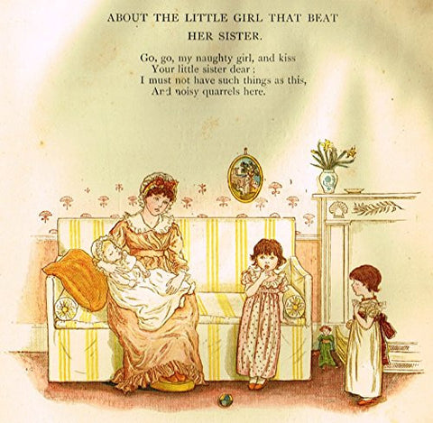 Kate Greenaway's Little Ann - ABOUT THE GIRL THAT BEAT HER SISTER - Chromolithograph - 1883