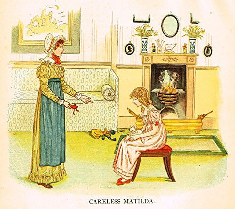 Kate Greenaway's Little Ann - CARELESS MALTILDA - Chromolithograph - 1883