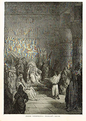 "Buel's Beautiful Story - ""JOSEPH INTERPRETING PHARAOH'S DREAM"" - Woodcut - 1887"